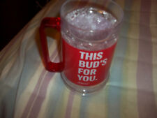 Budweiser plastic feeze cup this Bud's for you New keeps beer cold