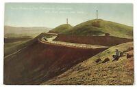 Twin Peaks San Francisco California CA Cars Highway 1900's Vintage Postcard
