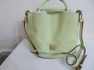 DOONEY & BOURKE LIME GREEN PATENT LEATHER SMALL BRENNA SATCHEL BAG PURSE NEW