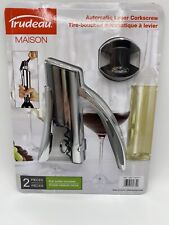 New listing Trudeau Maison Automatic Lever Corkscrew 2 pc with Foil Cutter Included New