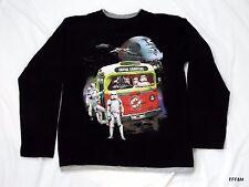 STAR WARS Kids Long Sleeve  T Shirt Black Size Large