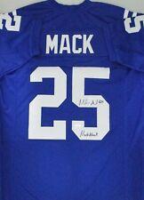 b7420f85806 Colts MARLON MACK Signed Custom Replica Blue Jersey AUTO w/