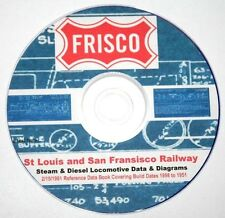 St. Louis - San Francisco SLSF Steam & Diesel Data & Diagrams PDF Pages on DVD