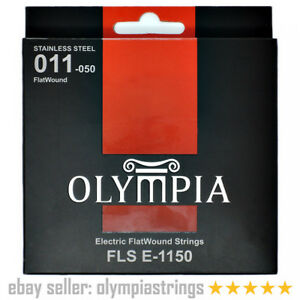Olympia FLS E1150 - Flatwound Stainless Steel Electric Guitar Strings Pack / Set