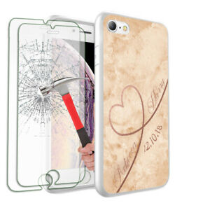 Personalised NAME MARBLE Phone Case+ 2 Tempered Glass for Various Models- 113