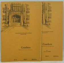 Combers Prepared Especially for Home Study Parts 1 and 2 2 Vols / 1949