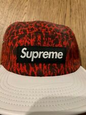 Supreme Leopard Leather White Visor Camp Hat SS13
