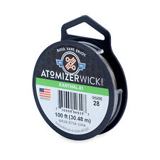 Kanthal 28 Gauge AWG A1 Wire 100ft Spool 0.32004mm, 5.27 Ohms/ft Resistance