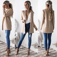 Stylish Women Ladies Long Sleeve Casual Business Suit Outwear Jacket Coat Tops