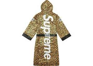 Supreme Everlast Satin Hooded Boxing Robe Leopard FW17 Size Large