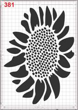 Motivo De Flores repetibles Stencil Mylar A4 hoja fuerte Reutilizable Artesanía Art Deco