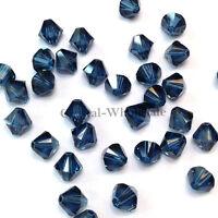 5mm Montana (207) blue Genuine Swarovski crystal 5328 XILION Bicone Beads