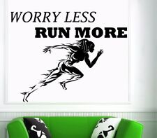 Fitness Sport worry less Wandtattoo Wallpaper Wand Schmuck 55 x 70 cm Wandbild