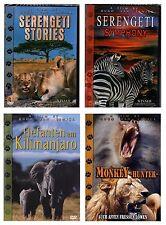 4 DVDs Tierdoku Bundle   Serengeti, Monkey Hunter, Elefanten am Kilimanjaro  Neu