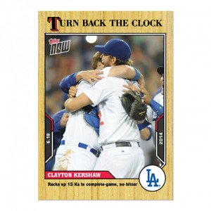 🛑 CLAYTON KERSHAW 2021 TOPPS NOW TURN BACK THE CLOCK #79 LOS ANGELES DODGERS 🔥