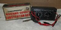 Vtg MICRONTA Cat No. 22-001 Resistance Capacity Substitution Box IOB w/Box J0379