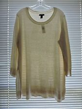 Nwp-Gap Women's Long Sweater Tunic oatmeal cotton,viscose,nylon Size xxl 2XL