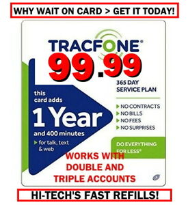 TRACFONE $99.99 Refill 400 Minutes > GET IT NOW ! FAST > 25YR TRUSTED DEALER