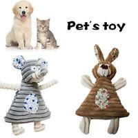 Plush Sound  Play Soft  Dog Toys Pet Supplies Rabbit Mouse Shape Chew Squeaker