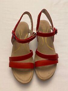 Naot Bounty Sandal  Red Leather Medium Comfort 7 Euro 38