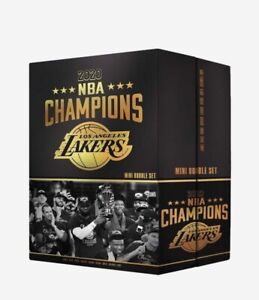 LOS ANGELES LAKERS 2020 NBA CHAMPIONS COMMEMORATIVE MINI BOBBLEHEAD SET Lebron