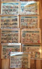 Collection Of 9 Rare Sun Newspaper Childrens Supplements 1954-5