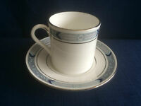 Royal Worcester Beaufort blue coffee can & saucer