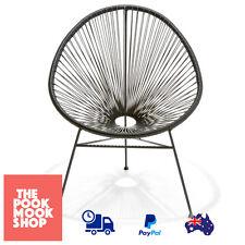 Acapulco Replica Chair Black Lounge Retro Weave Porch Design, Outdoor,  Furniture