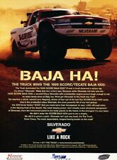 1999 Chevrolet Silverado Baja Race Original Advertisement Print Art Car Ad J802