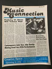 Vtg Music Connection Rock Mag Forbidden Zone Surf Punks Dixie Dregs Blue Wave