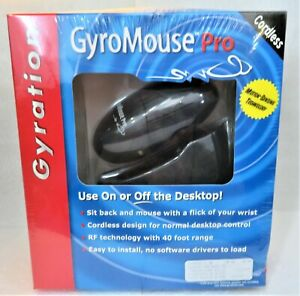 "GyroMouse Gyro-Pro RF Technology Cordless Mouse PS/2 / Serial ""New in Box"""