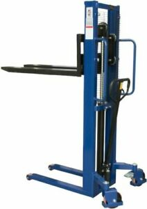 1000kg Manual High Lift Hand Hydraulic Pallet Stacker Truck Forklift Move 1600mm