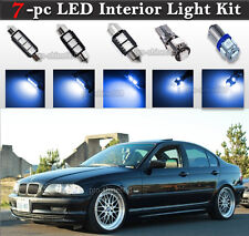 7-pc Blue Canbus LED Interior Light Package Kit Fit BMW E46 Sedan Wagon Coupe