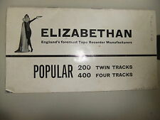 Instructions REEL to REEL tape player ELIZABETHAN 200 TWIN 400 4 track  CD/EMail