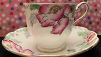 Vintage Royal Albert POPPYLAND Tea Cup & Saucer bone china England Hampton Shape