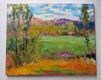Leigh Seikel Santa Fe Plein Air Impressionist Oil Painting New Mexico Landscape