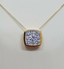 18Carat Yellow Gold Diamond  Pendant & Chain + Matching Earrings VS/G-H