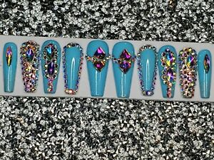 Custom set for sparklemoon - 2 sets xxl coffin neon pink