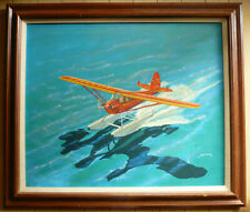 Matt Jefferies, Listed Star Trek Designer Aviation Oil Aircraft Vintage Artwork