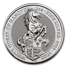 2oz Silver Queen's Beasts White Horse of Hanover 2020 Coin BU