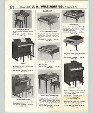 1958 PAPER AD Schoenhut Toy Piano Baby Grand Spinet Upright Console