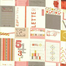 Julie Comstock Cosmo Cricket 2wenty Thr3e Love Letters Fabric Parchment 37050-11
