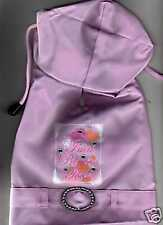 "PINK DOG PRINCESS RAINCOAT-SIZE medium FITS 14""-16"" Disney Pets"