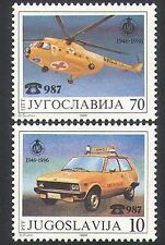 Yugoslavia 1986 Emergency Vehicles/Red Cross Helicopter/Car/Transport 2v n34343