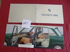 N°4865 / TRIUMPH 2000 catalogue luxe texte français   1964