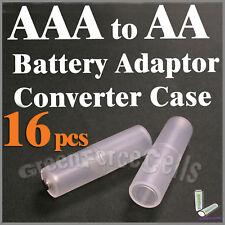 16 pièces Batterie convertisseur adaptateur support commutateur pour AAA à