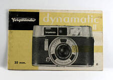 Voigtlaender Dynamatic II Instruction Book, 22 pages