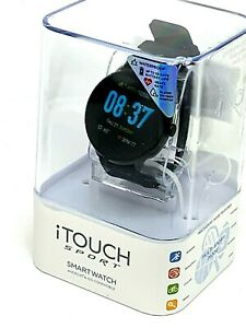 iTOUCH Sport Smart Watch Bluetooth Heart Rate Calorie Android IOS Black Rubber