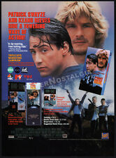POINT BREAK__Original 1991 Trade print AD promo__KEANU REEVES__PATRICK SWAYZE