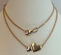 Chic Vintage Original Rose & White Gold Necklace Pendant  585 14KT